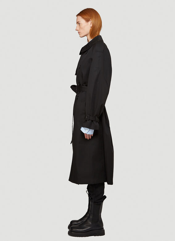 Vetements Logo-Patch Trench Coat 3
