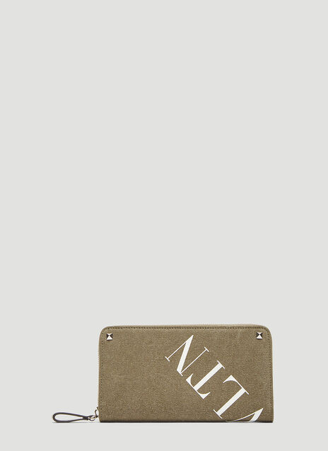 Valentino Rockstud VLTN Zip Around Wallet