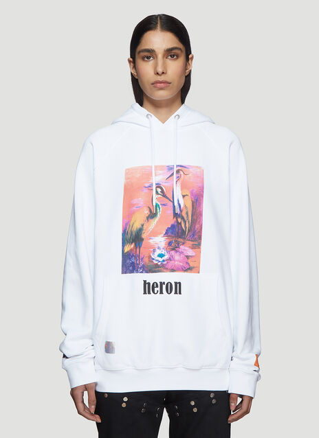 Heron Preston Hooded Painted Heron Sweater