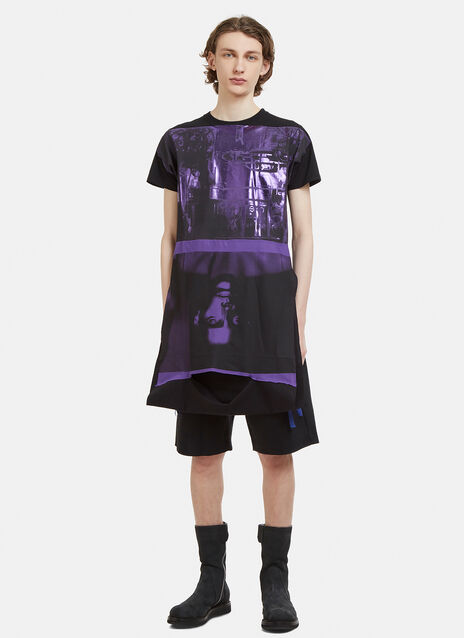 Raf Simons Replicants Patched Jersey Top