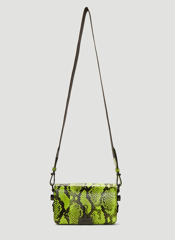 ed29e10a4515 Off-White. Neon Python Binder Clip Shoulder Bag in Yellow