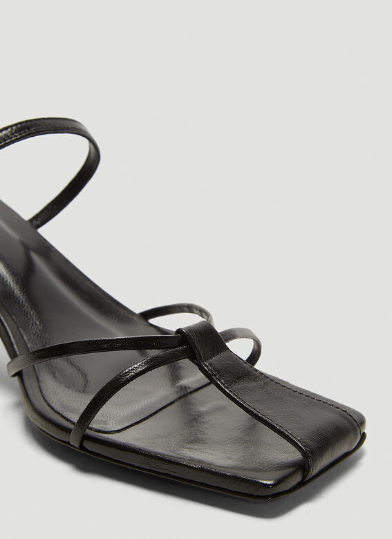 BY FAR Edita Leather Sandals   5