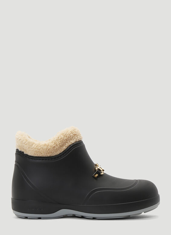 Gucci Horsebit Rubber Ankle Boots in Black