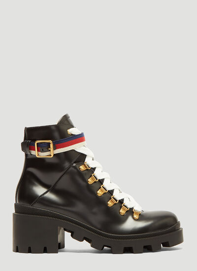 Gucci Trecking Heeled Ankle Boot
