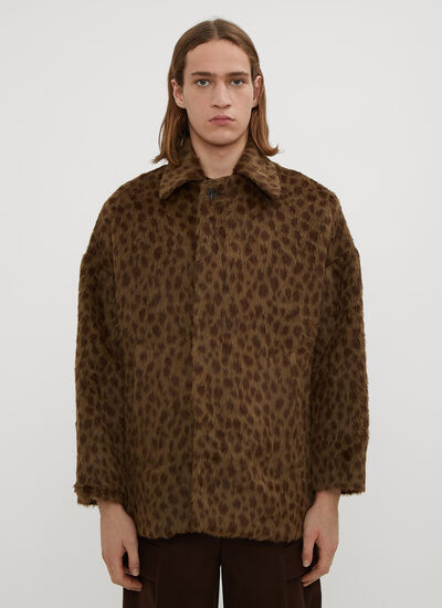 Hours Leopard Alpaca Coat