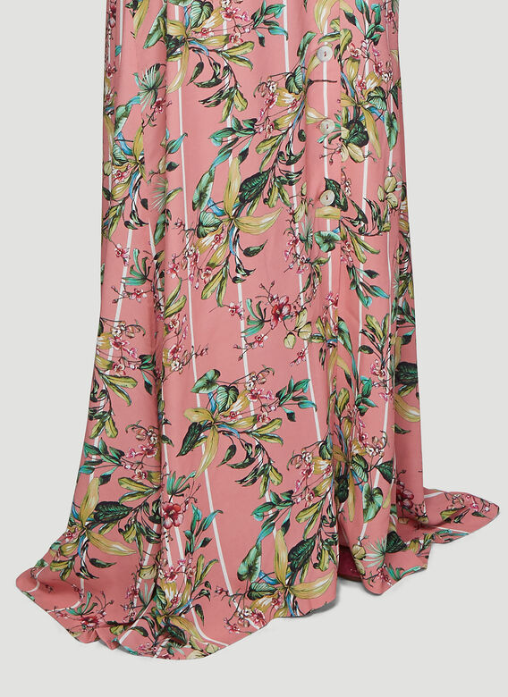 Vetements Flowers Button-Down Skirt
