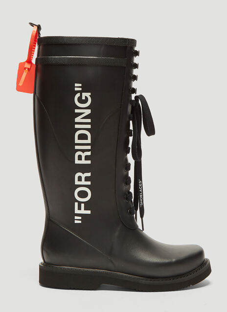 Off-White For Riding Wellington Boots