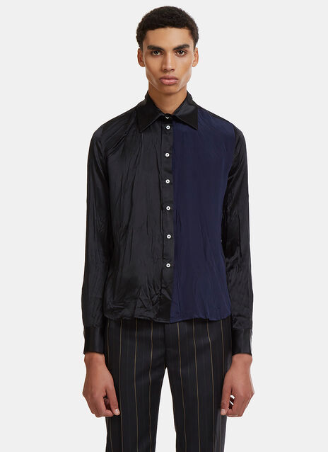 Wales Bonner Creased Shadow Shirt