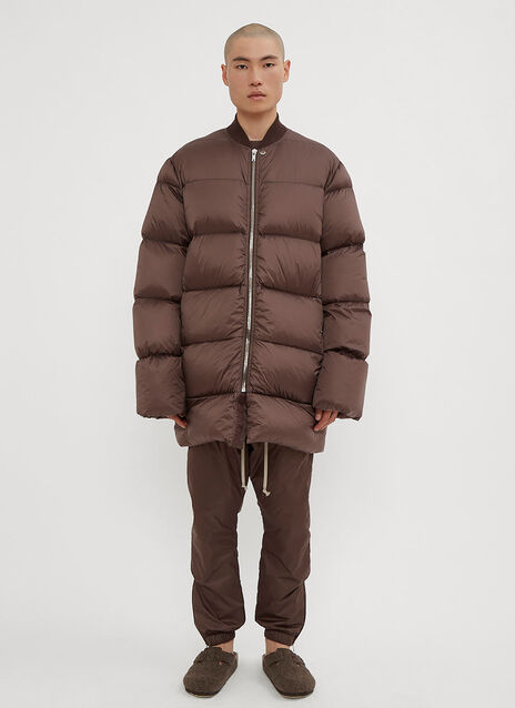 Rick Owens Flight Necked Duvet Coat