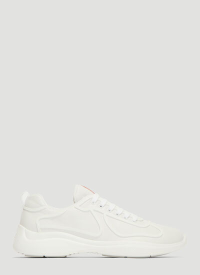 Prada  Americas Cup Lace-Up Sneakers