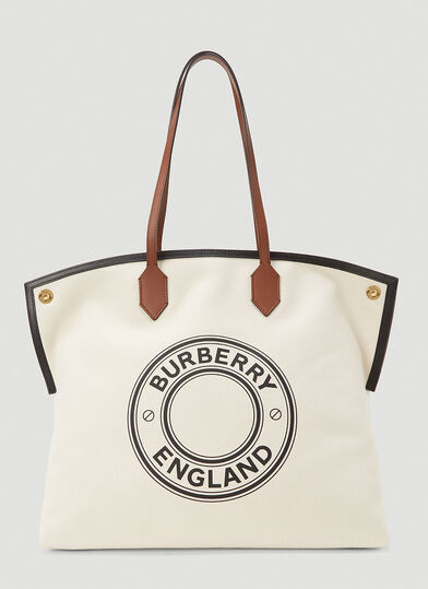 버버리 Burberry Society Large Tote Bag in Beige