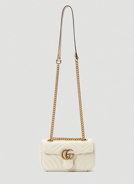 Gucci Gg Marmont 2.0 Small Shoulder Bag In White