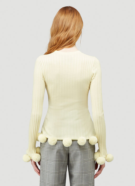 JW Anderson Pompom Ribbed Sweater 4