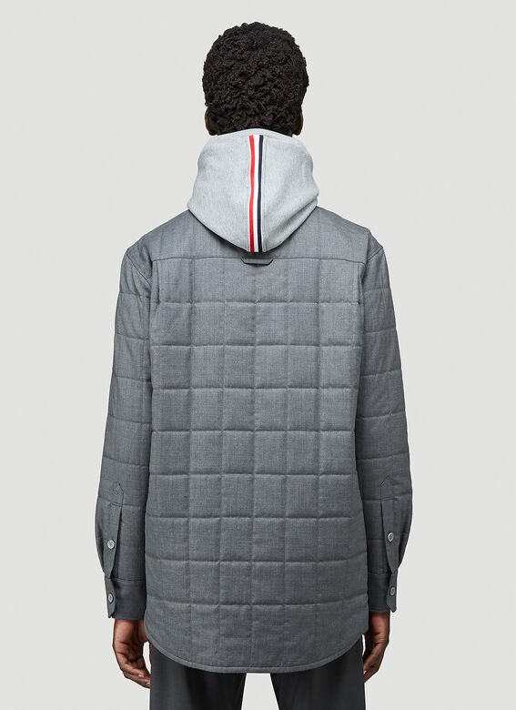 Thom Browne DOWNFILL SHIRT JACKET IN SUPER 120'S TWILL 4