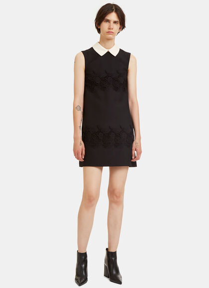 Image of Heavy Embroidered Lace Mini Dress