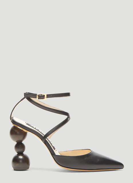Jacquemus Chaussures Geometric Heel Sandals
