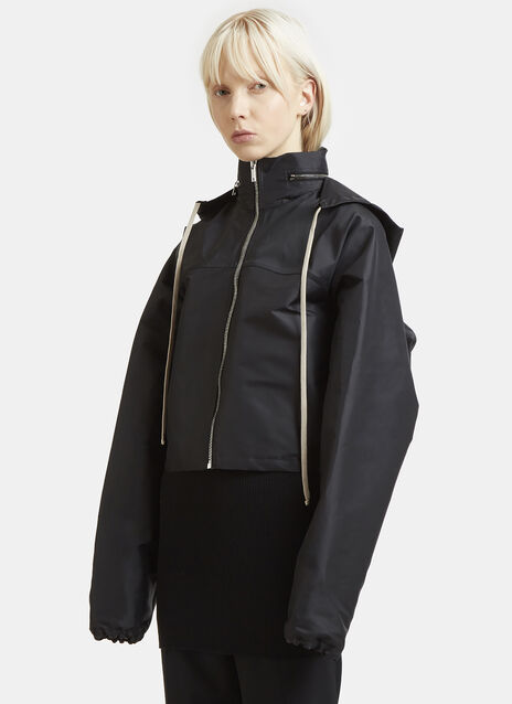 Rick Owens Cropped Wind Breaker Jacket