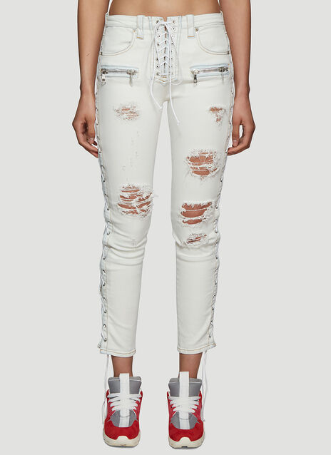 Unravel Project Side Lace-up Jeans