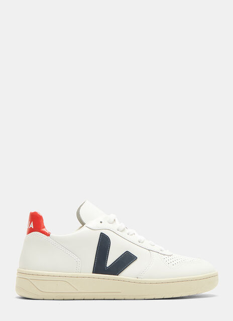 Veja V10 Nautico Leather Sneakers