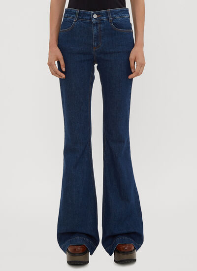 Stella McCartney Cropped Panel Jeans