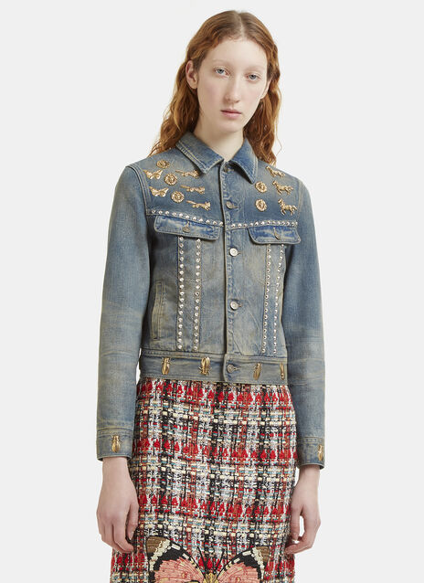 Insect Stud Denim Jacket
