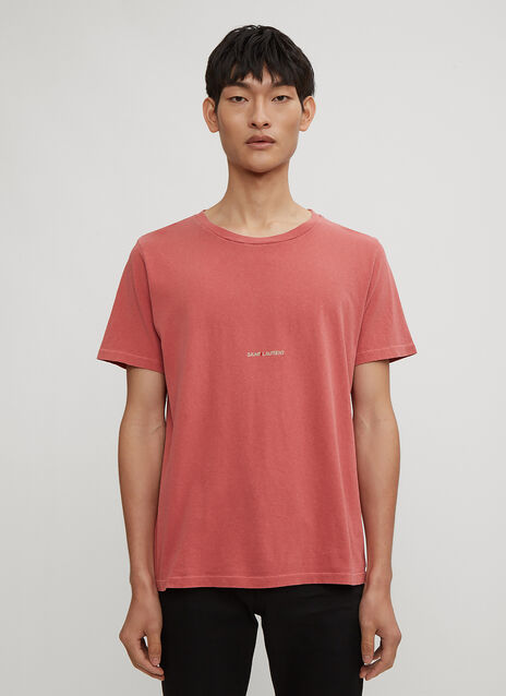 Saint Laurent Washed Logo T-Shirt
