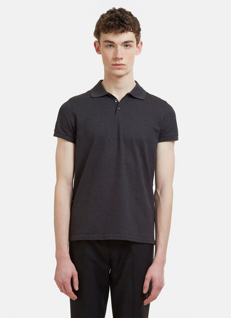 Saint Laurent Heaven Beaded Polo T-Shirt