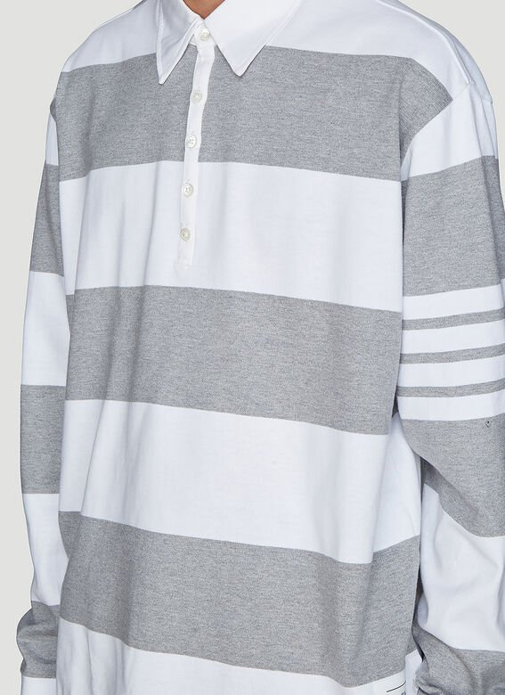 Thom Browne Polo Rugby Long Sleeve T-Shirt