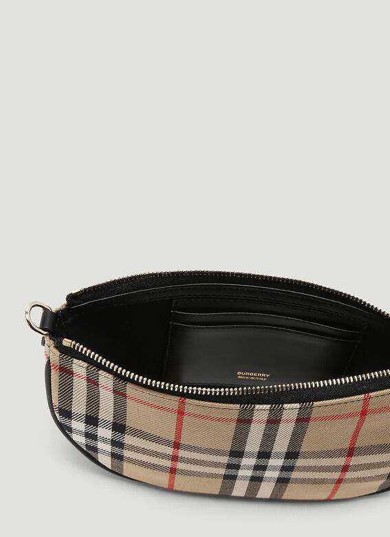 Burberry Olympia Vintage-Check Pouch Bag 6