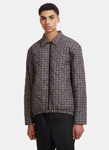 Marni Checked Quilted Jacket