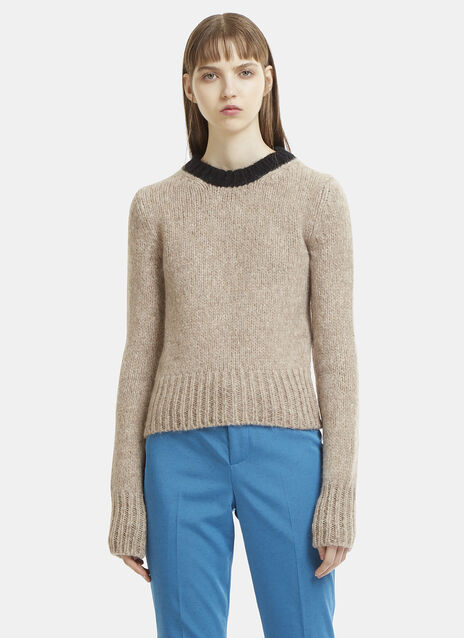 Extra-Long Sleeved Knit Sweater