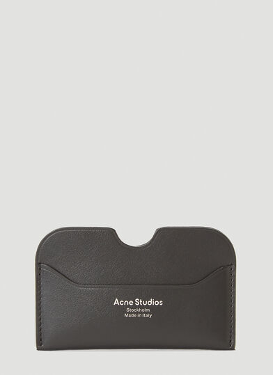아크네 스튜디오 Acne Studios Leather Card Holder in Black