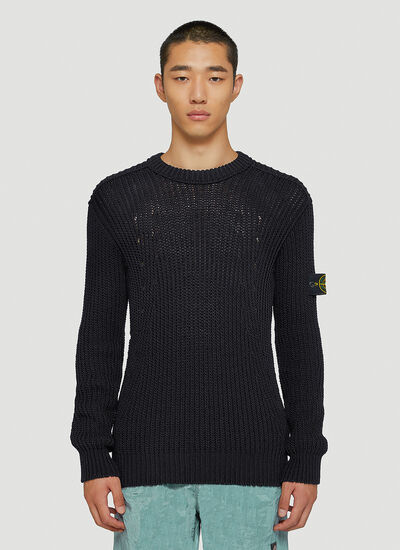 Stone Island Ribbed-Knit Sweater
