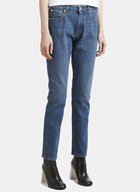 MSGM Logo Back Slim Fit Jeans