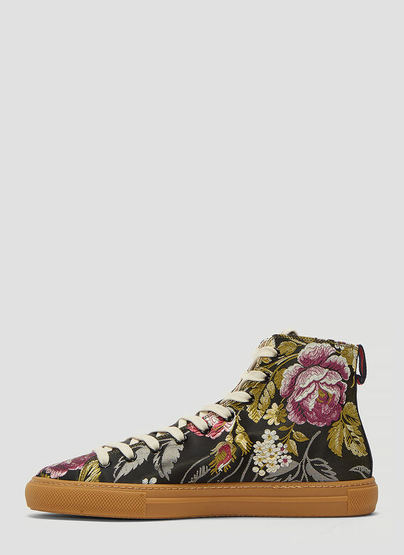 401b9d0e0 Gucci Blind For Love Floral Embroidered High-Top Sneakers