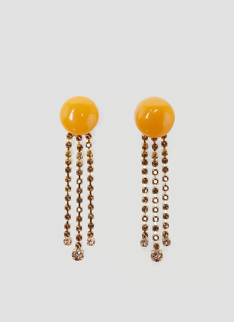 Marni Resin and Crystal Drop Earrings
