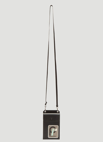 Prada Saffiano Leather Phone Holder Lanyard