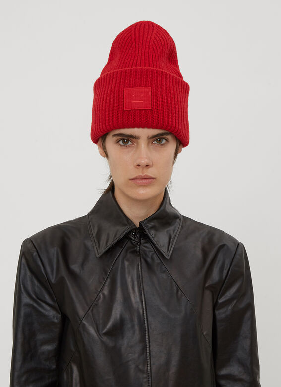 Acne Studios Pansy Face Hat in Red  cdfab50c289