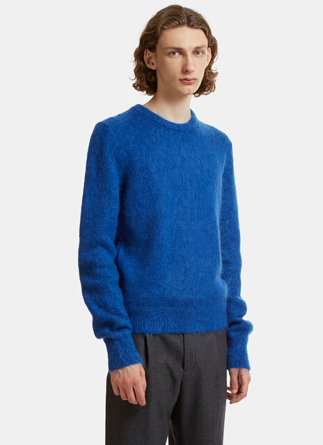 Mohair Knit Crew Neck Sweater