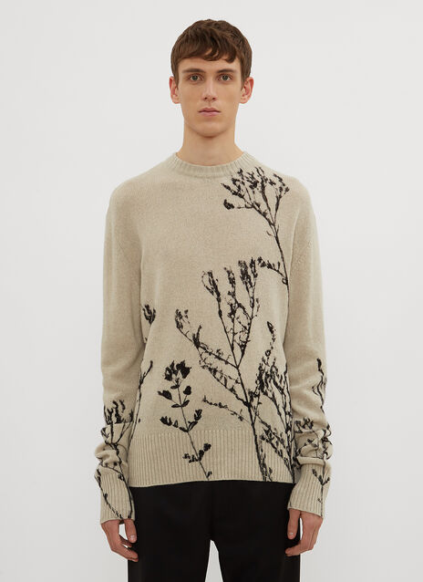 Federico Curradi Grass Crew Neck Knit Sweater