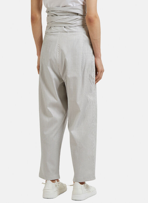 Hed Mayner Striped 4 Pleats Pants