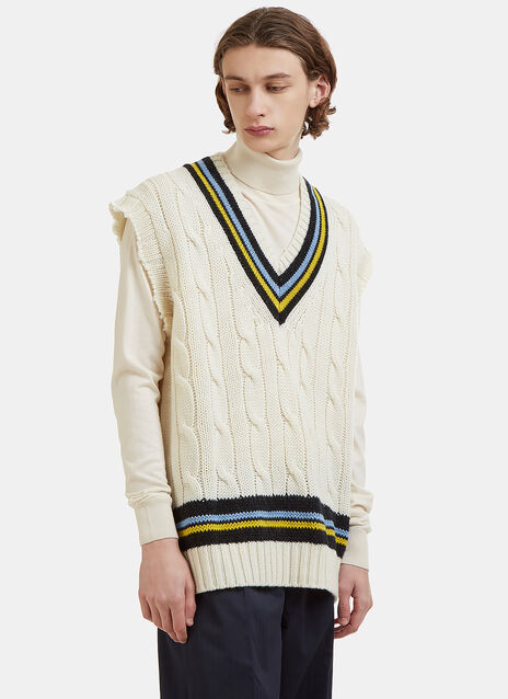 Maison Margiela Oversized Cable Knit Vest