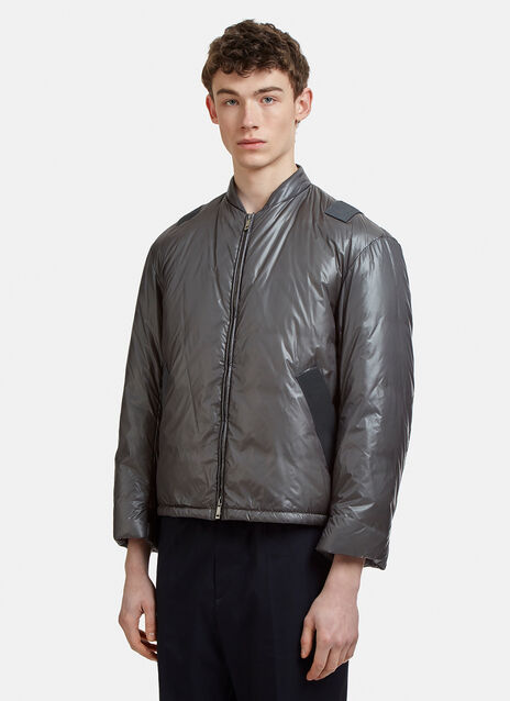 Jil Sander Down Padded Cross Back Bomber Jacket