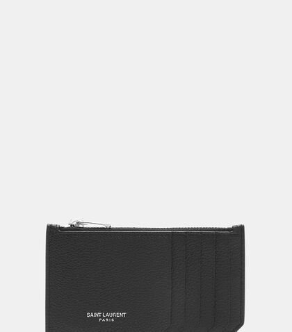 Paris 5 Fragments Grained Zip Wallet