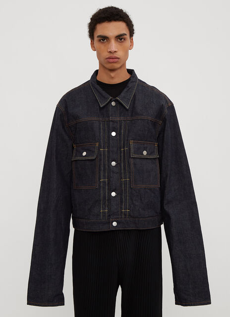 Clamp Long Sleeve Denim Jacket