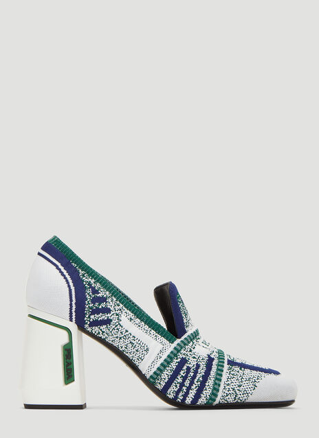 Prada Knit Fabric Loafers