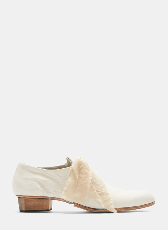 Atelier Inscrire Parchment Creased Leather Shoes