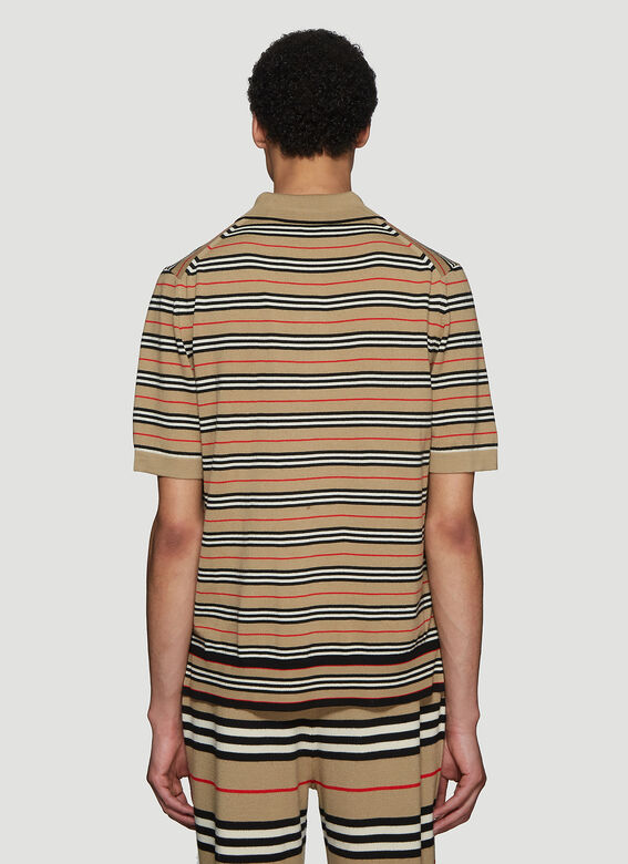 fd76669fc Burberry Striped Polo Shirt in Beige