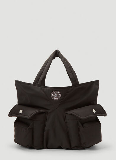 Vivienne Westwood Clint Shopper Tote Bag in Black