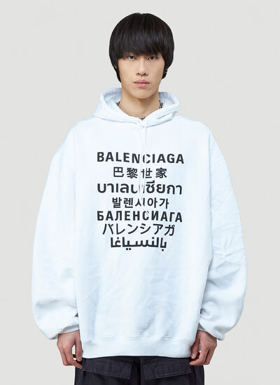 Balenciaga Multilanguages Hooded Sweatshirt